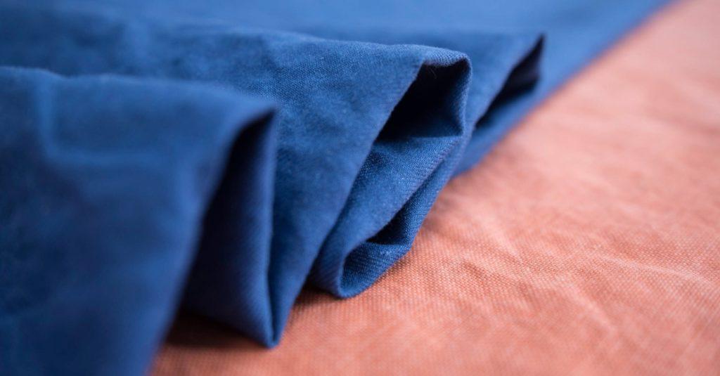 tessuto di canapa misto a cotone